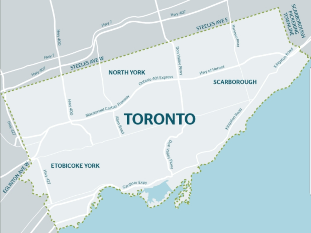 Toronto Municipal Land Transfer Tax Map